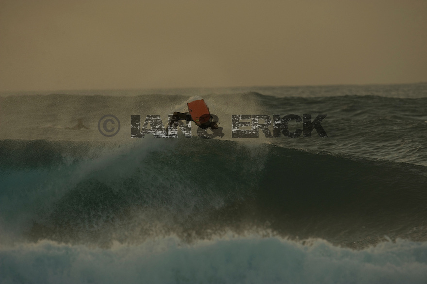 Jeff Hubbard (HAW) at Pipeline on the Northshore of Oahu in Hawaii.