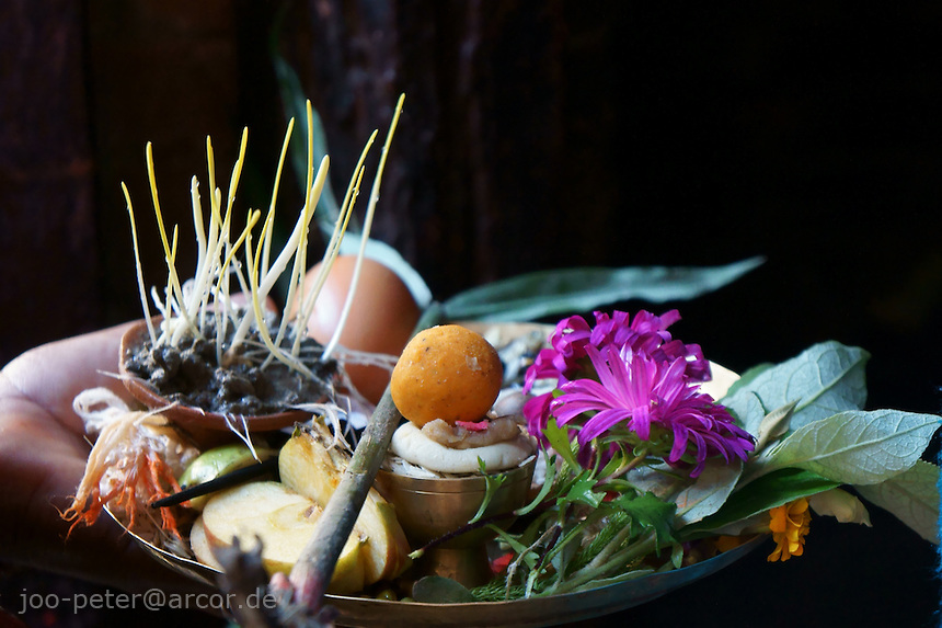 offerings during dashain festival time in bhaktapur nepal joo peter