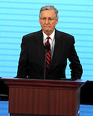 St. Paul, MN - September 3, 2008 -- United States Senator Mitch McConnell (Republican of Kentucky), opens the proceedings on day 3 of the 2008 Republican National Convention at the Xcel Energy Center in Saint Paul, Minnesota on Wednesday, September 3, 2008.Credit: Ron Sachs / CNP.(RESTRICTION: NO New York or New Jersey Newspapers or newspapers within a 75 mile radius of New York City)