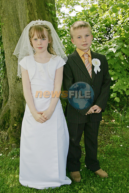 Karen and Adam Reilly at First Communion in Sandpit on Saturday.