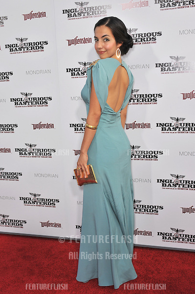 "Tina Rodriguez at the Los Angeles premiere of her new movie ""Inglourious Basterds"" at the Grauman's Chinese Theatre, Hollywood..August 10, 2009  Los Angeles, CA.Picture: Paul Smith / Featureflash"