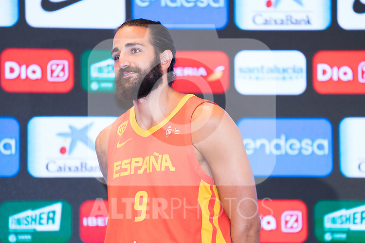 Ricky Rubio during the official presentation of Spanish National Team of Basketball.  July 24, 2019. (ALTERPHOTOS/Francis Gonzalez)