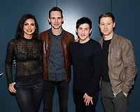 """NEW YORK - FEBRUARY 26: Morena Baccarin, Cory Michael Smith, Robin Lord Taylor and Ben McKenzie attends a fan event with the cast of """"Gotham"""" hosted by Fox and Tumblr at the Tumblr headquarters on February 26, 2018 in New York City.(Photo by Ben Hider/Fox/PictureGroup)"""