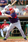 10 March 2006: Matthew LeCroy, catcher for the Washington Nationals, at bat during a Spring Training game against the Houston Astros. The Astros defeated the Nationals 8-6 at Osceola County Stadium, in Kissimmee, Florida...Mandatory Photo Credit: Ed Wolfstein..