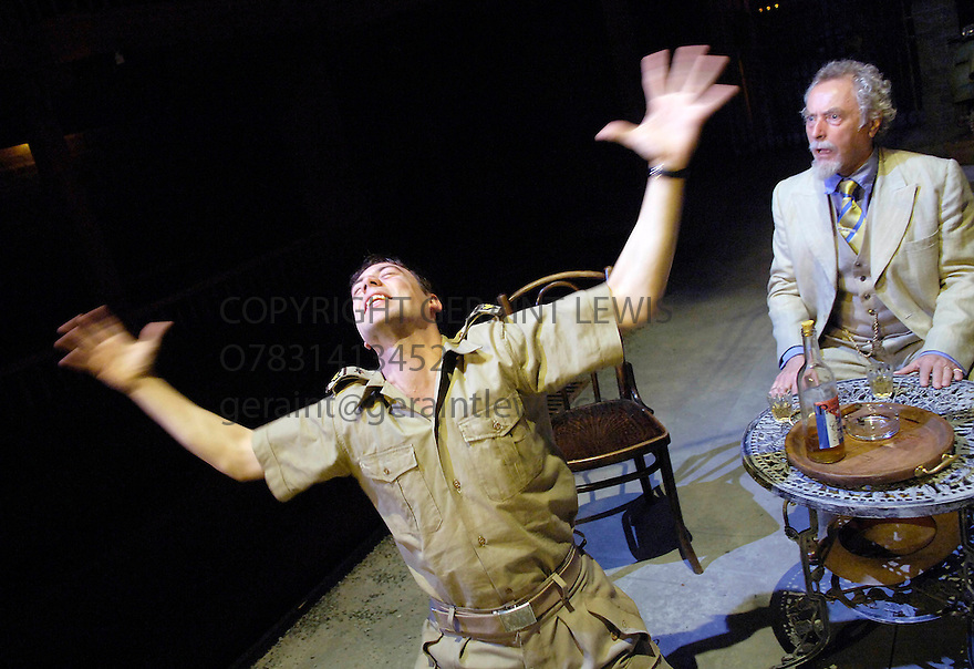 Much Ado About Nothing by William Shakespeare directed for The Royal Shakespeare Company by Marianne Elliott . With Nicholas Day as Leonato [r], Adam Rayner as Count Claudio [l].Opens at the Swan Theatre,Stratford Upon Avon 18/5/06 . CREDIT Geraint Lewis