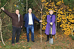 Éanna NÍ Lamhna of the Tree Council of Ireland, with Brendan Fitzsimons (CEO Tree Council of Ireland) and Colm Conyngham (Marketing and Public Relations Manager) planting a tree at the Bridgestone Balbriggan Service Centre, Unit 13 KVS Business Park, Balbriggan, Co. Dublin, Ireland on Friday 22nd November 2019.<br /> Picture:  Thos Caffrey / Newsfile<br /> <br /> All photo usage must carry mandatory copyright credit (© Newsfile   Thos Caffrey)