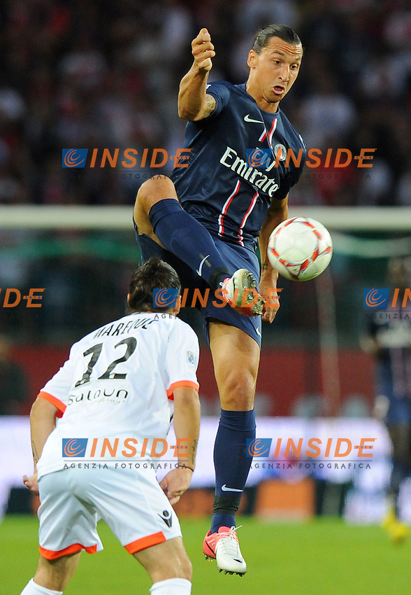 Zlatan Ibrahimovic (PSG)  .Parigi 11/8/2012.Football Calcio 2012/2013 Ligue 1.PSG Lorient.Foto Insidefoto / Panoramic.ITALY ONLY