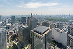 View from the Observation Deck from 202 meters above the ground of the Metropolitan Government Building in Shinjuku, Tokyo, Japan