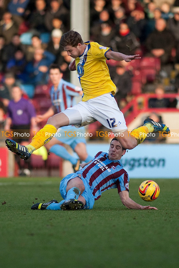 Harry Pell (AFC Wimbledon)<br />  - Scunthorpe United vs AFC Wimbledon - Sky Bet League Two Football at Glanford Park, Scunthorpe - 18/01/14 - MANDATORY CREDIT: Mark Hodsman/TGSPHOTO - Self billing applies where appropriate - 0845 094 6026 - contact@tgsphoto.co.uk - NO UNPAID USE