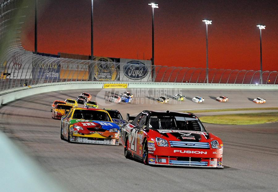 Nov. 16, 2008; Homestead, FL, USA; NASCAR Sprint Cup Series driver Bill Elliott during the Ford 400 at Homestead Miami Speedway. Mandatory Credit: Mark J. Rebilas-