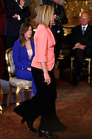 Il Ministro degli Esteri Federica Mogherini durante la cerimonia del giuramento del nuovo governo al Quirinale, Roma, 22 febbraio 2014.<br /> Italian Foreign Minister Federica Mogherini during the swearing in ceremony of the new government at the Quirinale presidential palace, Rome, 22 February 2014.<br /> UPDATE IMAGES PRESS/Riccardo De Luca