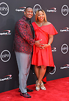 Mike Daniels &amp; Heaven Tutson at the 2018 ESPY Awards at the Microsoft Theatre LA Live, Los Angeles, USA 18 July 2018<br /> Picture: Paul Smith/Featureflash/SilverHub 0208 004 5359 sales@silverhubmedia.com