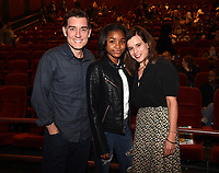 """LOS ANGELES - JANUARY 9: Author Justin Cronin, Saniyya Sidney, and Executive Producer Liz Heldens, attend an advanced screening and Q&A of FOX's """"The Passage"""" at the AMC Century City 15 on January 9, 2019, in Los Angeles, California. (Photo by Frank Micelotta/Fox/PictureGroup)"""