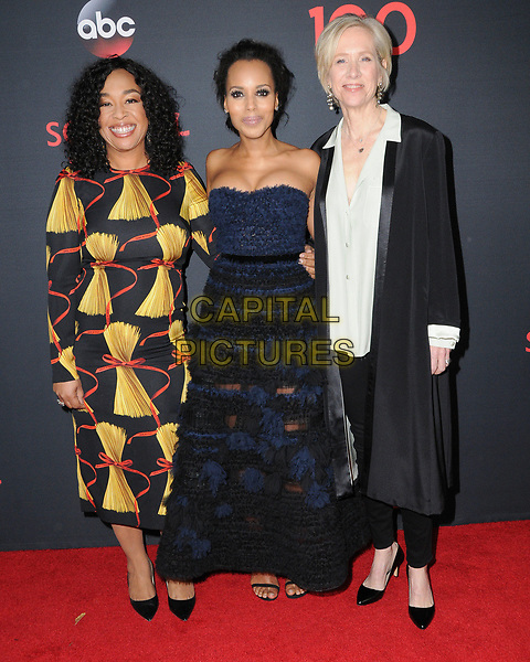08 April 2017 - West Hollywood, California - Shonda Rhimes, Kerry Washington, Betsy Beers. ABC's 'Scandal' 100th Episode Celebration held at Fig &amp; Olive in West Hollywood.   <br /> CAP/ADM/BT<br /> &copy;BT/ADM/Capital Pictures