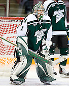 Jeff Lerg (Michigan State - Livonia, MI) waits to be announced as the Spartans' starting goaltender. The University of Minnesota Golden Gophers defeated the Michigan State University Spartans 5-4 on Friday, November 24, 2006 at Mariucci Arena in Minneapolis, Minnesota, as part of the College Hockey Showcase.