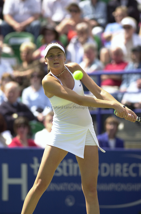Photo:Alan Crowhurst..Hastings Direct International Championship Final at Eastbourne.19/06/2004..Daniela Hantuchova.