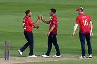 Ryan ten Doeschate of Essex celebrates taking the wicket of Alex Blake during Essex Eagles vs Kent Spitfires, Royal London One-Day Cup Cricket at The Cloudfm County Ground on 6th June 2018