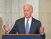 United States Vice President Joe Biden makes remarks at the ceremony where the official portrait of US Senate Minority Leader Harry Reid (Democrat of Nevada) is to be unveiled in the Kennedy Caucus Room on Capitol Hill in Washington, DC on Thursday, December 8, 2016.<br /> Credit: Ron Sachs / CNP