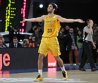 Herbalife Gran Canaria's Javier Beiran during Spanish Basketball King's Cup match.February 07,2013. (ALTERPHOTOS/Acero)