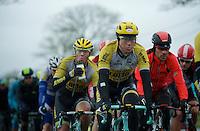 Sep Vanmarcke (BEL/LottoNL-Jumbo) always at the front of the peloton<br /> <br /> 77th Gent-Wevelgem 2015