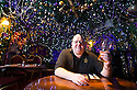 04/12/14<br /> <br /> Landlord and pub owner, Mark Thomas, 41, in the upstairs dining room.<br /> <br /> The Hanging Gate pub in Chapel en le Frith, in the Derbyshire Peak District claims to have the largest display  of Christmas decorations inside its bar and restaurants. <br /> <br /> Full story here: http://www.fstoppress.com/articles/christmas-pub/<br /> <br /> ***ANY UK EDITORIAL PRINT USE WILL ATTRACT A MINIMUM FEE OF £130. THIS IS STRICTLY A MINIMUM. USUAL SPACE-RATES WILL APPLY TO IMAGES THAT WOULD NORMALLY ATTRACT A HIGHER FEE . PRICE FOR WEB USE WILL BE NEGOTIATED SEPARATELY***<br /> <br /> <br /> All Rights Reserved - F Stop Press. www.fstoppress.com. Tel: +44 (0)1335 300098