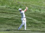 Potomac, MD - June 30, 2018: Andrew Landry takes his second shot during Round 3 at the Quicken Loans National Tournament at TPC Potomac in Potomac, MD, June 30, 2018.  (Photo by Elliott Brown/Media Images International)
