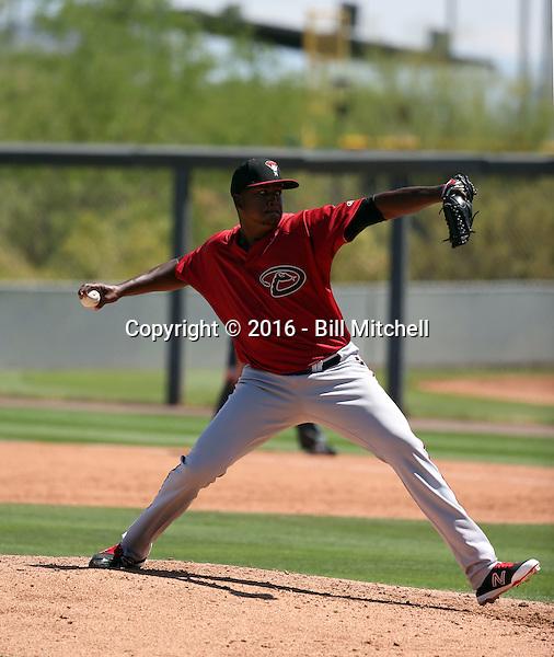Jeferson Mejia - Arizona Diamondbacks 2016 extended spring training (Bill Mitchell)