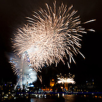 London New Year's Eve Fireworks 2012