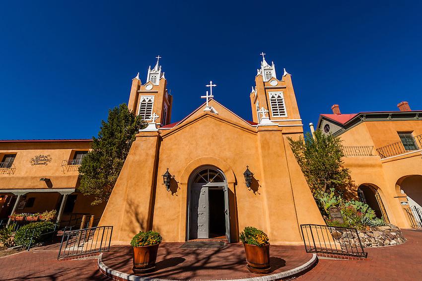 San Felipe de Neri Church, Old Town, Albuquerque, New Mexico USA