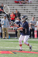 College Park, MD - February 25, 2017: Yale Bulldogs Phil Huffard (35) passes the ball during game between Yale and Maryland at  Capital One Field at Maryland Stadium in College Park, MD.  (Photo by Elliott Brown/Media Images International)
