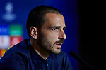 Leonardo Bonucci during the Press Conference before the UEFA Champions League match between Atletico de Madrid and Juventus at Wanda Metropolitano Stadium in Madrid, Spain. September 17, 2019. (ALTERPHOTOS/A. Perez Meca)