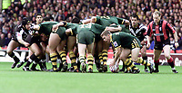 Picture by Shaun Flannery\SWpix.com - 25/11/00 - Rugby League World Cup Final 2000 - Australia v New Zealand, Old Trafford, Manchester, England - Australia's Adam Macdougall moves the ball out of the scrum.