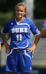 23 September 2007: Duke's Sara Murphy. The Duke University Blue Devils defeated the Ohio State University Buckeyes 2-1 at Koskinen Stadium in Durham, North Carolina in an NCAA Division I Women's Soccer game, and part of the annual Duke Adidas Classic tournament.