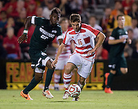 College Park, MD - September 19, 2014: Michigan State defeated Maryland 1-0 during a men's soccer match at Ludwig Field.