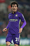 David Silva of Manchester City - Barclays Premier League - Stoke City vs Manchester City - Britannia Stadium - Stoke on Trent - England - 11th February 2015 - Picture Simon Bellis/Sportimage