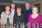 DANCE: Enjoying themselves at the Fundraising Dance, for Recovery Havan (Haigs Terrace, Tralee, at Darby O'Gill's Killarney on Sunday, L-r: Margaret Hickey(Ballydesmond), Pat Herlihy(Gneegugella), Betty Collins (Ballydesmond) and Michael and Catherine Curran (Brandon)........ ..........