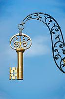 Deutschland, Bayern, Oberfranken, Bamberg: Zunftschild, Schluessel | Germany, Bavaria, Upper Franconia, Bamberg: guild sign - key