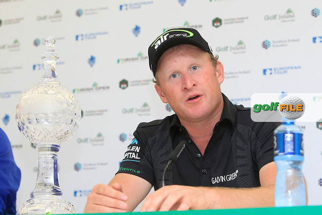 Jamie Donaldson (WAL) winner of the Irish Open at Royal Portrush GC,Portrush,County Antrim,Ireland. 1/7/12.Picture Fran Caffrey www.golffile.ie