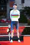 Alejandro Valverde on the podium of the last Stage of La Vuelta 2019 . September 15, 2019. (ALTERPHOTOS/Francis Gonzalez)
