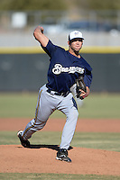 Milwaukee Brewers pitcher Drew Ghelfi (53) during an Instructional League game against the Los Angeles Angels on October 11, 2013 at Tempe Diablo Stadium Complex in Tempe, Arizona.  (Mike Janes/Four Seam Images)