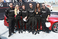 NEW YORK, NY - SEPTEMBER 12: Alex Rodriguez, Candice Swanepoel, Cameron Dallas, Derek Blasberg, Joan Smalls and Brandon Maxwell at Kia Race the Runway at  Pier 92/94 on September 12, 2017 in New York City. <br /> CAP/MPI99<br /> &copy;MPI99/Capital Pictures