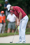 Justin Rose of England putts the ball during Hong Kong Open golf tournament at the Fanling golf course on 25 October 2015 in Hong Kong, China. Photo by Xaume Olleros / Power Sport Images