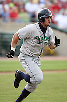 August 15 2008:  Catcher Chris Rosenbaum (9) of the Cedar Rapids Kernels, Class-A affiliate of the Los Angeles Angels of Anaheim, during a game at Philip B. Elfstrom Stadium in Geneva, IL.  Photo by:  Mike Janes/Four Seam Images