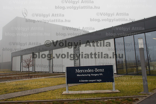 Mercedes-Benz factory in Kecskemet, (about 100 km south of Budapest), Hungary on January 20, 2015. ATTILA VOLGYI