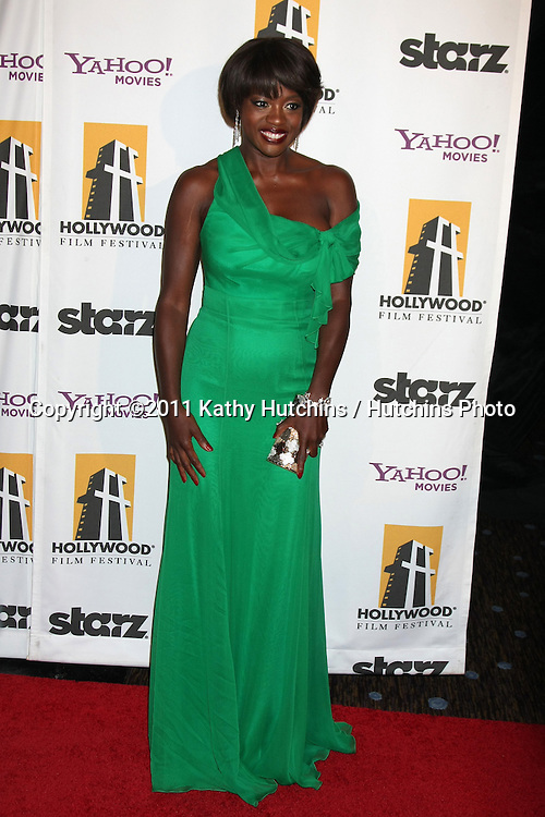 LOS ANGELES - OCT 24:  Viola Davis arriving at the 15th Annual Hollywood Film Awards Gala at Beverly Hilton Hotel on October 24, 2011 in Beverly Hllls, CA