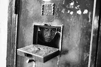 Roma Giugno 2000.Carcere di Rebibbia N.C..Detenuto in cella...Rome June 2000.Prison Rebibbia N.C..Prisoner in the cell.
