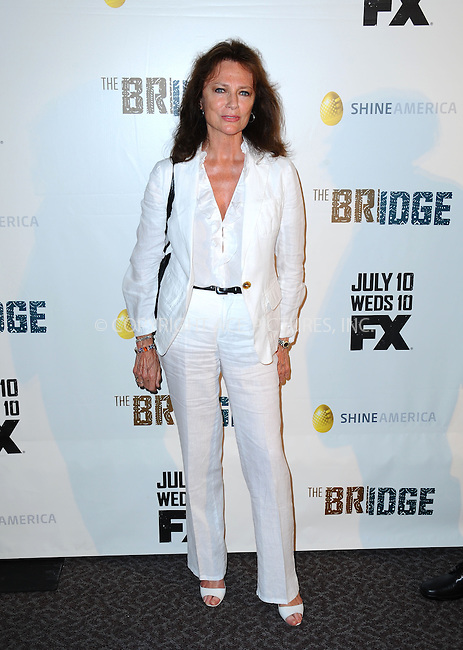 WWW.ACEPIXS.COM<br /> <br /> July 8 2013, LA<br /> <br /> Jacqueline Bisset arriving at the series premiere of FX's 'The Bridge' at DGA Theater on July 8, 2013 in Los Angeles, California. <br /> <br /> By Line: Peter West/ACE Pictures<br /> <br /> <br /> ACE Pictures, Inc.<br /> tel: 646 769 0430<br /> Email: info@acepixs.com<br /> www.acepixs.com