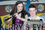 SHOW: Siblings Emer and Cormac Lynch representing the Ballymac youth club at the KDYS Regional Variety Finals at the CBS NS, Tralee on Saturday.