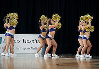 Florida International University Golden Dazzlers perform during the game against ULM, which won the game 54-50 on January 07, 2012 at Miami, Florida. .