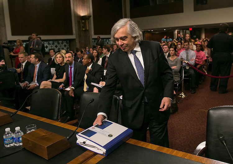 UNITED STATES - JULY 23: Energy Secretary Ernest Moniz arrives for his testimony at the Senate Foreign Relations Committee hearing on the Iran Nuclear Agreement on Thursday, July 23, 2015. Secretary of State John Kerry, Energy Secretary Ernest Moniz, and Treasury Secretary Jack Lew testified. (Photo By Al Drago/CQ Roll Call)
